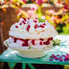 Dreamy Marshmallow Pavlova. With cloudlike homemade marshmallow this pavlova is the stuff of dreams! Comfort Food by Jamie Oliver