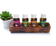 Appropriately, some smells, like that of Lavender oil, trigger stress-relief. They cause a production of chemicals and hormonal agents that produce positive feelings and elevate joy. Essential Oil Storage, Essential Oils Cleaning, Citrus Essential Oil, Pure Essential Oils, Hanging Shelves, Wooden Shelves, All Natural Cleaners, Rustic Wood Decor, Healing Oils