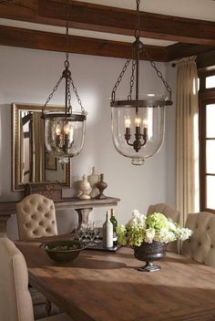 Rustic Dining Room: Take a look at this amazing dining room lighting and fall in love with the dazzling dining room decor Farmhouse Lighting, Kitchen Lighting, Rustic Farmhouse, Rustic Lighting, Farmhouse Chandelier, Island Lighting, Kitchen Chandelier, Classic Lighting, Modern Lighting