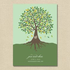 Jess Creates - Wedding Invitations, Custom Stationery  Event Branding — {Jessie} Carved Tree Wedding Invitation