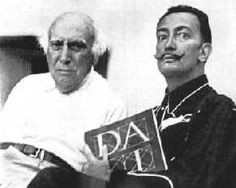 Salvador Dalí with his Father / 1948