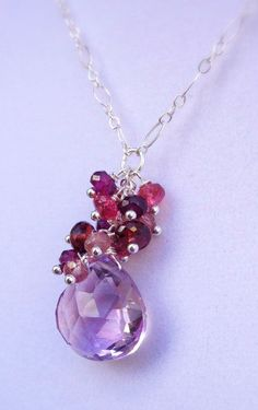 Amethyst Sterling Cascade Necklace