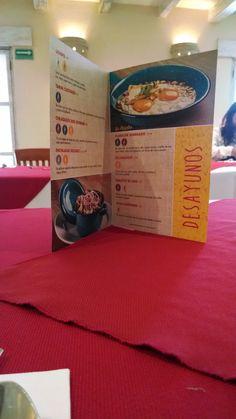 Menú de desayunos, La Cosecha de Don Seve en Fonda Mexicana