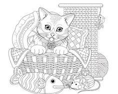 målarbild, målarbilder, gratis, gratis målarbild, barn, målarbild för barn, målarbilder för barn, färglägga, zentangle, mandala, fylla i, fylla-i-bild, katt, katter, kattdjur, kattbild