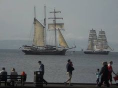 Ships at the Bangor Maritime festival, County Down, July 7 2014. My natal town. Miss the sea a bit living an hour and a half from the nord Pas de Calais coast now.. Pic Maureen Ross