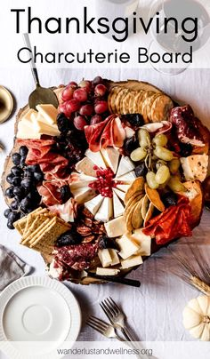 Build a gorgeous Thanksgiving charcuterie board this holiday season that will keep your hungry guests at bay! Learn how to build a seasonal charcuterie board that will look gorgeous on your Thanksgiving table. Thanksgiving Appetizers, Thanksgiving Side Dishes, Thanksgiving Recipes, Fall Recipes, Holiday Recipes, Charcuterie And Cheese Board, Charcuterie Platter, Cheese Boards, Charcuterie Recipes