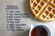 waffle recipe this looks easy. And they taste  really good!