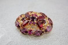 50% OFF, Bright Red and Pink Juliana D&E Rhinestone Brooch. Confirmed. on Etsy, $32.50
