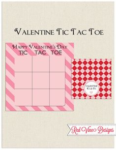 Tic Tac Toe Valentine' s Day Card