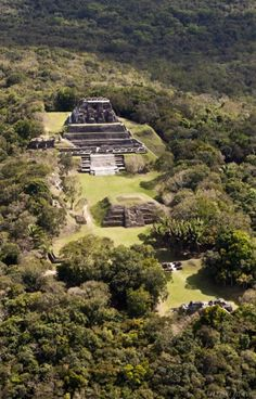 Xunantunich is an Ancient Mayan archaeological site in western Belize, about 80 miles west of Belize City, in the Cayo District. Xunantunich is located atop a ridge above the Mopan River, well within sight of the Guatemala border.