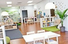 Natural and harmonious colours make this a relaxing classroom.                                                                                                                                                                                 More