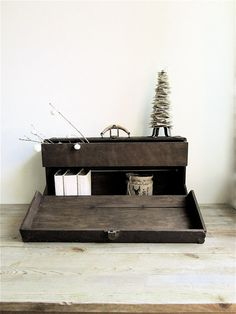 Antique Trunk with Drawer by lovintagefinds on Etsy, $169.00