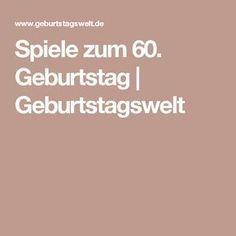 Spiele zum 60. Geburtstag   Geburtstagswelt