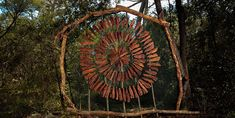 artist Spencer Byles spent a year creating beautiful sculptures out of natural and found materials