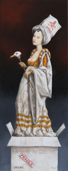 Catherine Chauloux   OIL | Dame Au Goéland (Lady With Gull)
