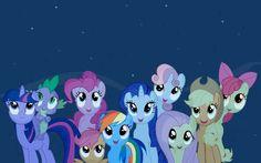 My Little Pony - Twilight Sparkle, Spike, Pinkie Pie, Scootaloo, Rainbow Dash, Rarity, Sweetie Belle, Fluttershy, Applejack and Apple Bloom