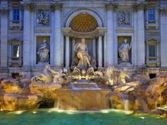 Trevi Fountain Photographic Print by Sylvain Sonnet at Art.com Have a photo of this fountain, shall make my own Art