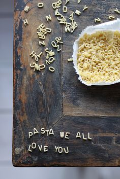 Charmingly cute idea! #cooking #food #pasta