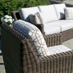All weather resin wicker patio furniture by Ratana.