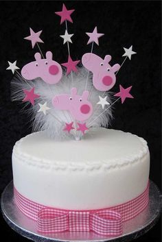 Peppa Pig Cake Topper Cupcakes, Cupcake Cakes, Tortas Peppa Pig, Peppa Pig Birthday Cake, Pig Cookies, Pig Party, Birthday Cake Decorating, Themed Cakes, Cake Art