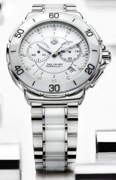 TAG Heuer Formula 1 Lady Steel & White Ceramic Chronograph with Diamond Dial - Jewelers Trade Shop, Pensacola FL