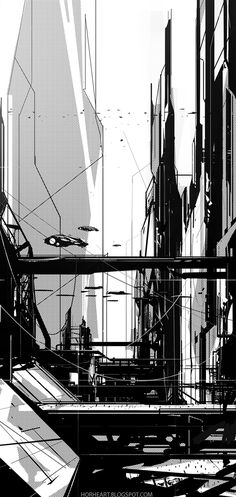 An experiment I did a while back, mainly focusing on composition, custom shapes and design, and only using Black and White. It's an extremely easy, fast and fun way to come up with composition sketches and experiment with designs and shapes without caring…