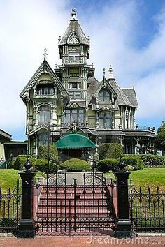 Victorian Carson mansion in Eureka,California with gingerbread details.one day I will own/build a Gothic revival Victorian home. Victorian Architecture, Beautiful Architecture, Beautiful Buildings, Beautiful Homes, Architecture Design, Victorian Buildings, Classical Architecture, Victorian Style Homes, Victorian Era