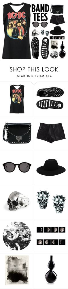 """""""One of my favourite bands 💓"""" by evelynn-cole ❤ liked on Polyvore featuring Boohoo, Valentino, Maison Margiela, Thierry Lasry, Off-White, Cyan Design and acdc"""