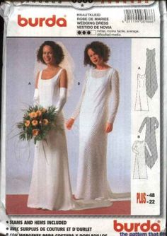 Burda Sewing Pattern 8966 Misses Sizes 10-22 Wedding Dress Bridal Gown