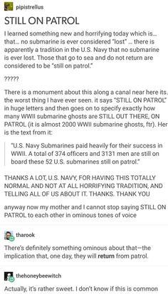 Lost submarines are never lost Hey are simply still on patrol Would this be a bad time to make a joke about the skeleton war? | Tumblr