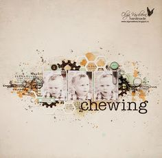 """Crafting ideas from Sizzix UK: """"Chewing kid"""" layout"""