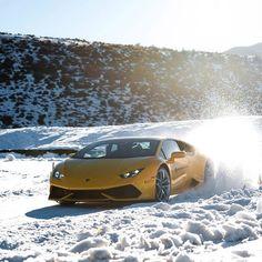 Huracan + Snow • Photo by @Lamborghini #CarLifestyle
