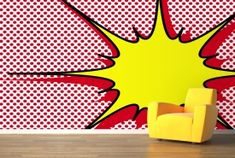 Dotted Explosion Pop Art Mural, more pop art examples too