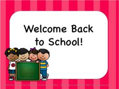 Teachers Notebook! Back to School Editable Power Point (Pink Stripe) from Chalkspot.com on TeachersNotebook.com -  (22 pages)  - Back to School Power Point Presentation: 22 slides, editable, Pink Stripe  background with Back to School Kids.