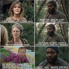 New funny baby memes hilarious walking dead 47 Ideas Walking Dead Jokes, Walking Dead Pictures, Walking Dead Zombies, Fear The Walking Dead, Twd Memes, Funny Memes, Memes Humor, Funny Quotes, Mom Died