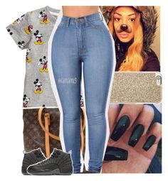 """;❤️"" by lamamig ❤ liked on Polyvore featuring H&M, Michael Kors, Louis Vuitton and NIKE"