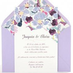 Invitación de boda Katerina