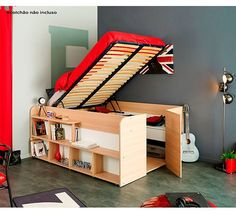 CAMA MULTIFUNCIONAL SPACE UP OAK/BRANCO 166X207X87H