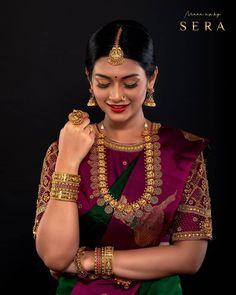 Bridal Sarees South Indian, Indian Bridal Photos, Indian Bridal Fashion, South Indian Bride, Wedding Photos, Indian Bride Poses, Indian Wedding Photography Poses, Indian Photoshoot, Saree Photoshoot