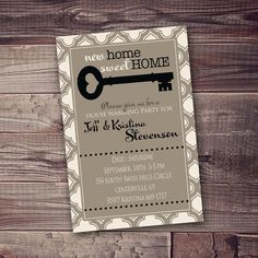 open house invitation, new home, or any occasion FREE wording customization