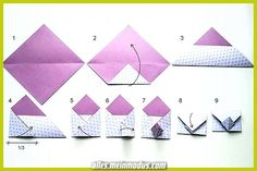 Discover more about Origami Paper Folding Origami Fox, Design Origami, Origami Butterfly, Origami Tutorial, Origami Flowers, Origami Easy, Origami Hearts, Origami Bookmark, Origami Instructions