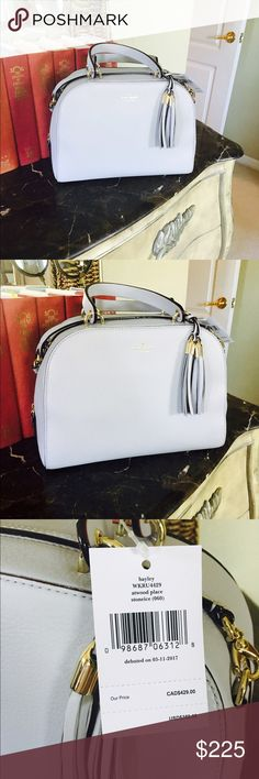 NWT Kate Spade Bag NWT Kate Spade Bag in a gorgeous heather grey color. The bag also comes with a crossbody strap. Retails for $359. Debuted March of 2017! kate spade Bags