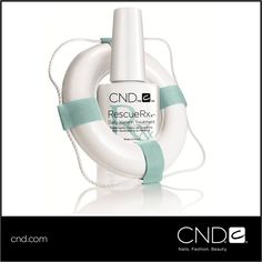 Do your nails suffer from Splitting? Peeling? White Spots? Repair damaged nails with RESCUERXX™ Daily Keratin Treatment a clinically-proven nail repair NEW from CND. With daily use, peeling and white spots are dramatically reduced. For more information, please visit www.cnd.com/RESCUERXX.