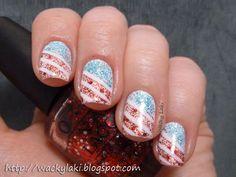 4th of July nails byWacky Laki