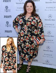 MELISSA MCCARTHY  Cada vez son más las famosas que escogen marcas de bajo costo, aun para la alfombra. Este es el caso de la cómica actriz, ...