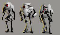 Risultati immagini per portal concept art Character Base, Character Concept, Character Reference, Portal Art, Android Design, Robots Characters, Mekka, Robot Concept Art, Atlas
