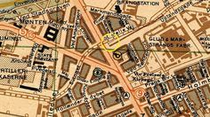 Kort over Amagerbanens startsted