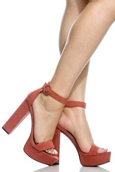 254c0212be7 Mauve Faux Suede Platform Ankle Strap Heels   Cicihot Heel Shoes online  store sales Stiletto Heel Shoes