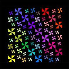 Starry Nights Quilt Pattern - Pinwheel Block Pattern