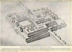 1923 Print Palace Fortress Sargon Sharrukin Khorsabad Dur-Sharrukin ...